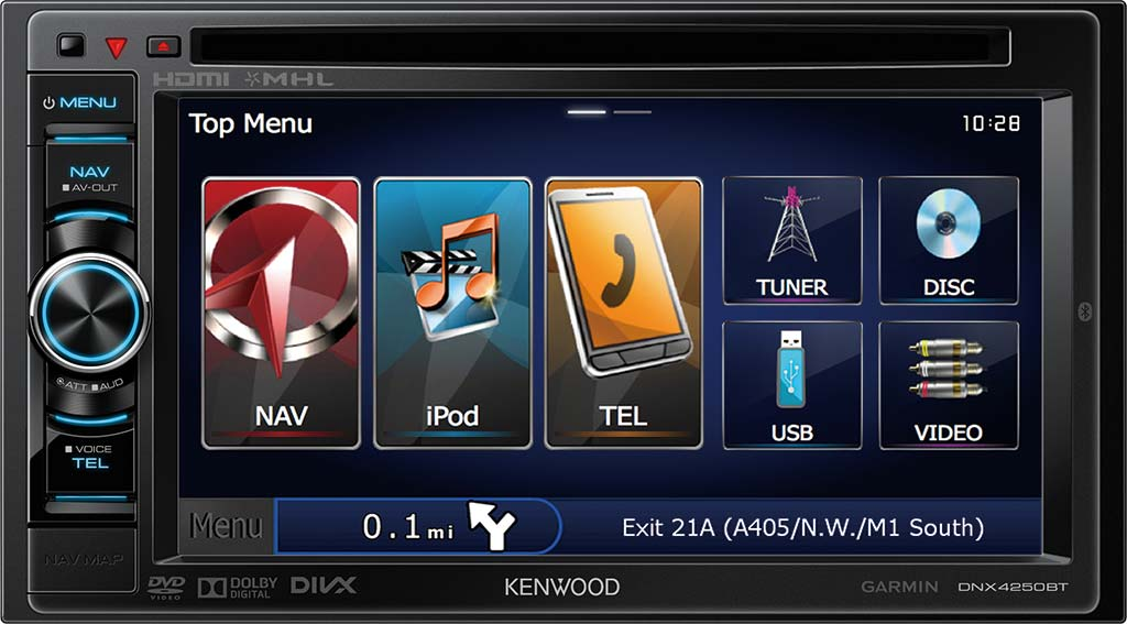 dnx 4250bt 6 1 touch screen sat nav unit with bluetooth. Black Bedroom Furniture Sets. Home Design Ideas